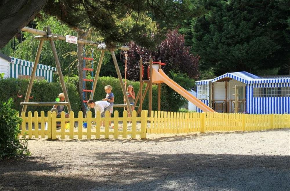 playing area for children with games in Port Cheri campsite in Pornic